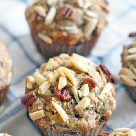 Whole Wheat Banana, Oat, and Toasted Nut Muffins (100% Whole Grain!)