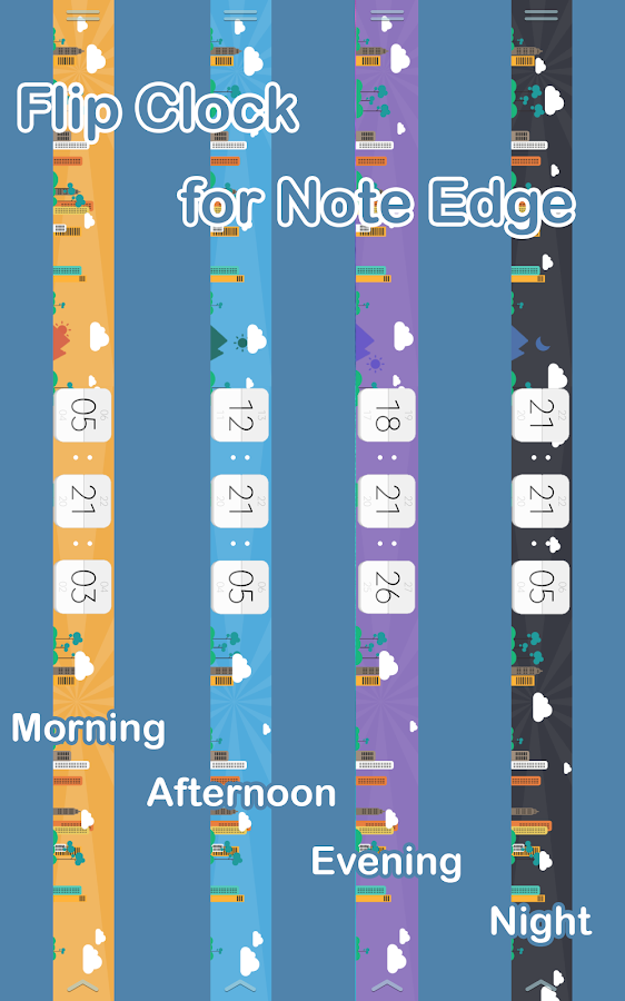 Flip Clock for Note Edge Screenshot 6