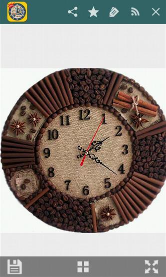 Часы в кофейном стиле своими руками 53