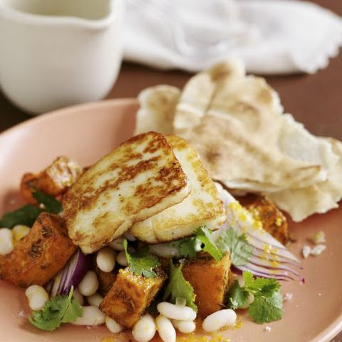 Grilled Cheese with White Bean Salad