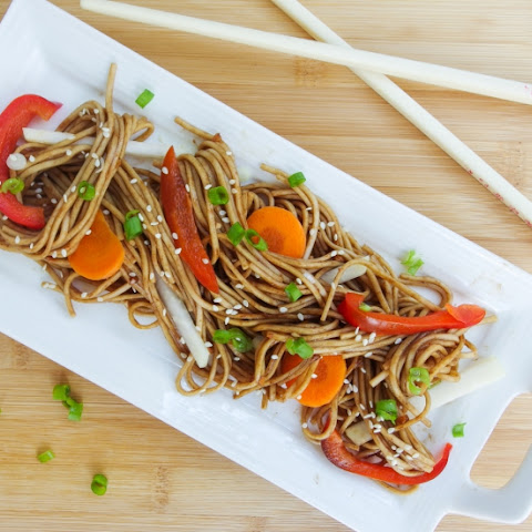 Tamarind Soba Noodle Salad with Summer Vegetables
