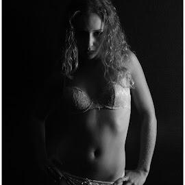by Shaun Healey - Nudes & Boudoir Boudoir ( blonde, lingerie, black and white, boudoir )