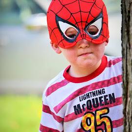 Spiderman by Lori Gauthier - Babies & Children Child Portraits