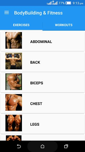 BodyBuilding & Fitness screenshots