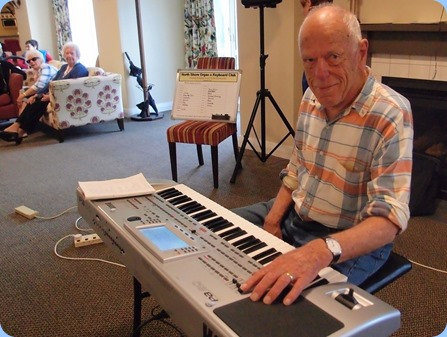 Ron Clingin played the Korg Pa80. Photo courtesy of Dennis Lyons.