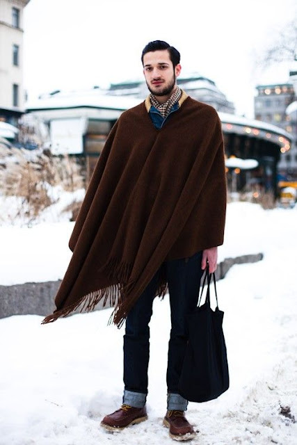 Knitting Pattern For Mens Poncho : male pattern boldness: Ponchos for Men -- YEA or NAY?