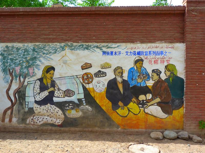 XINJIANG.  Turpan. Ancient city of Jiaohe, Flaming Mountains, Karez, Bezelik Thousand Budda caves - P1270883.JPG