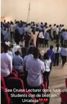 UNIABUJA Students Beat Up A Lecturer For Ending An Examination ( Video )