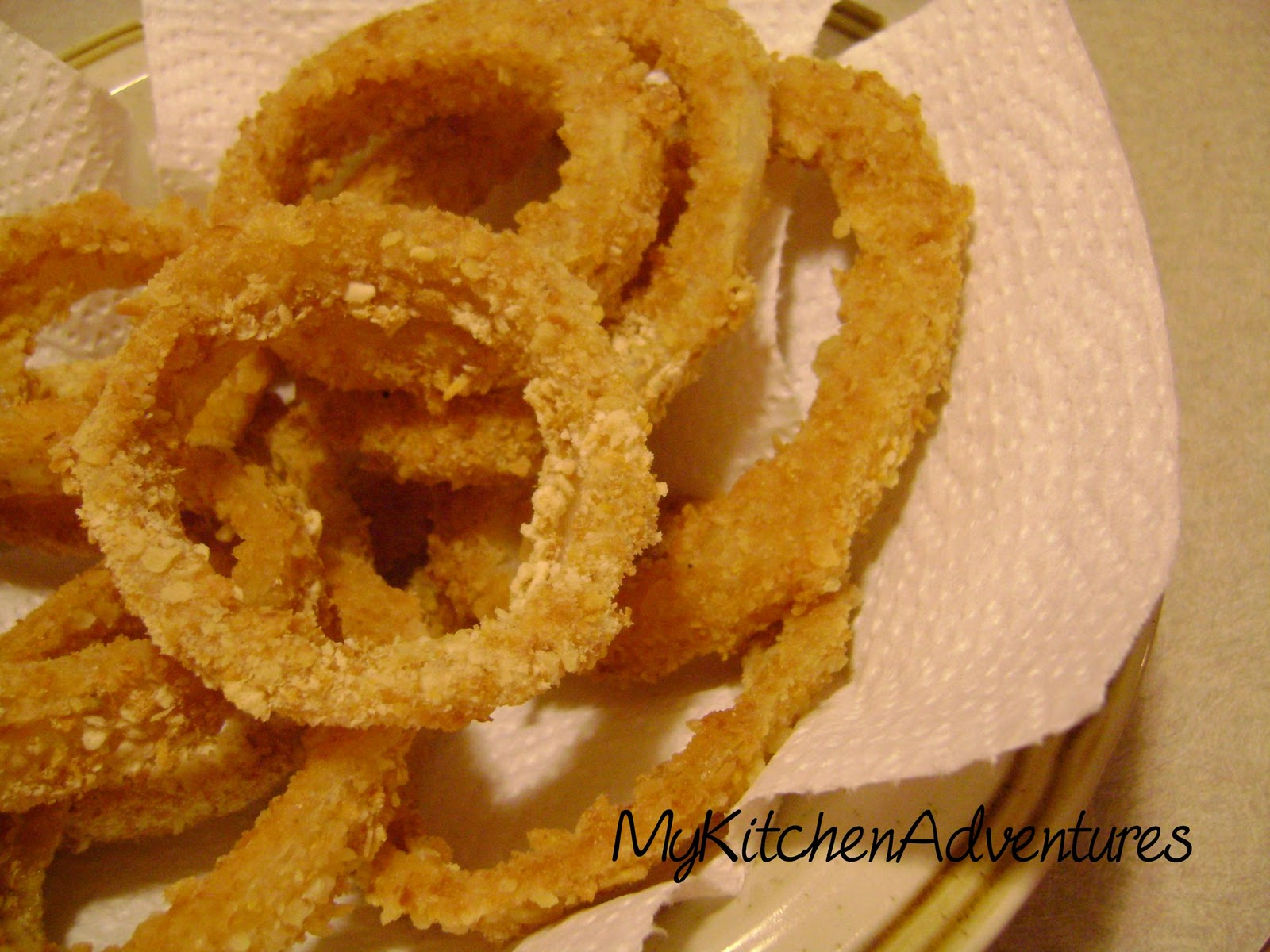 Oven Baked Onion Rings and Le Petit Triangle