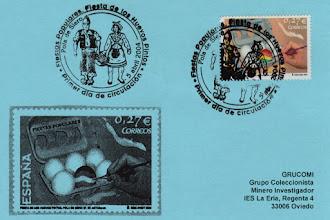 Photo: Matasellos de Primer Día de Circulación del sello de Huevos Pintos 2004