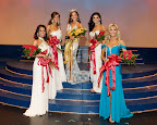 Top five finalists at the Miss Texas Scholarship Pageant were, from left, Miss Fort Worth, Faith Bates, third runner-up; Miss Carrollton, DaNae Couch, first runner-up; Miss Texas, Kristen Blair; Miss Grapevine, Ashley Melnick, second runner-up; and Miss Frisco, Kathryn Dunn, fourth runner-up.