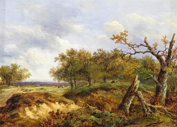 Joseph Thors - A Fallen Oak in a Landscape