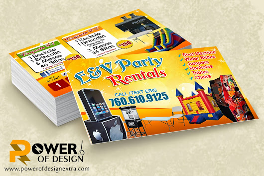 party rental business cards images business card template. Black Bedroom Furniture Sets. Home Design Ideas