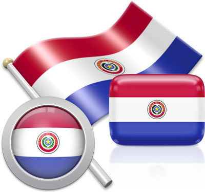 Paraguayan flag icons pictures collection