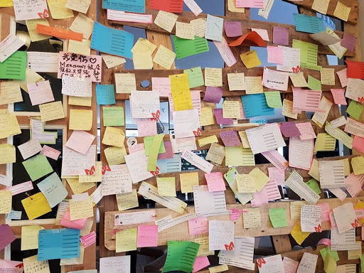 Post-it notes at Merchant Hotel in Georgetown Penang