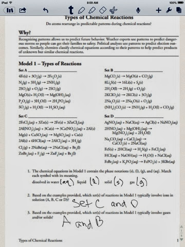 Worksheet Types Of Chemical Reactions Pogil Answers + My ...