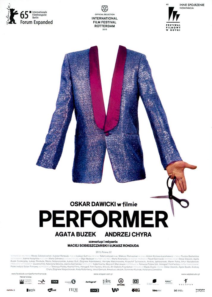Ulotka filmu 'Performer (przód)'