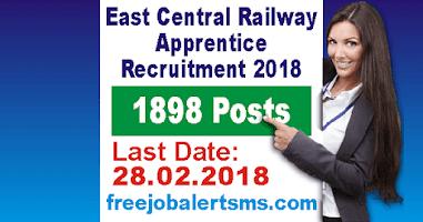 East Central Railway Apprentice Bharti 2018
