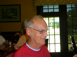 Photo: Peg's husband Bill Schmidt at lunch in Poinciana