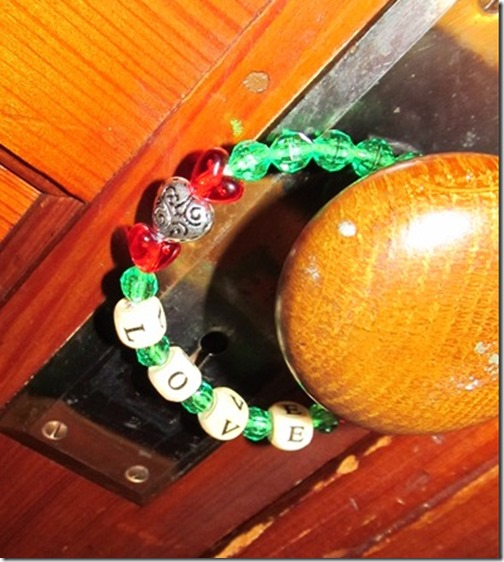 beaded door hanger