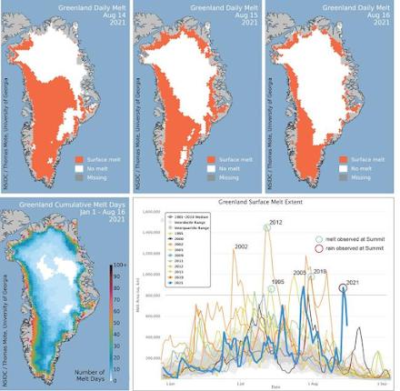 Σημαντική τήξη πάγου λαμβάνει χώρα στη Γροιλανδία
