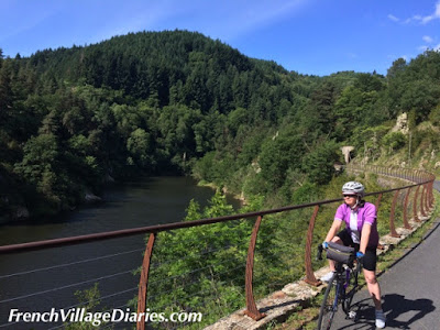 French Village Diaries Train de l'Ardeche Dolce Via cycling France