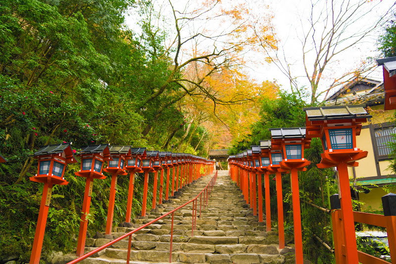 京都 貴船神社 紅葉 写真5