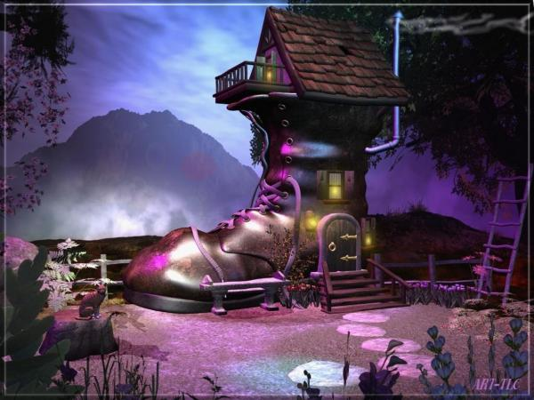 Small House Of Wooden Witch, Magical Landscapes 2