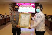 Kornas TRC PPA Beri Penghargaan Kepada Kapolda Kaltim dan Personil