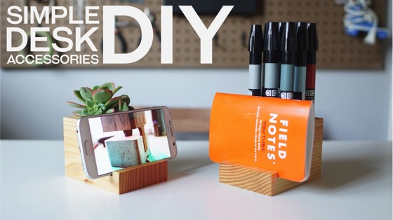 Noted: Build Your Own Desk Accessories With Leftover 4x4 Pieces