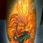 leg fire - tattoos ideas