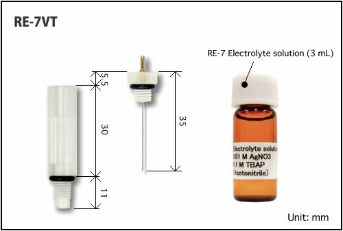 RE-7VT Non Aqueous reference electrode