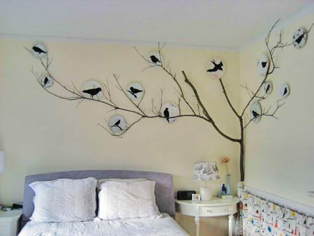 Art Wall Decor: Cool and Beauty With Flower Bedroom Wall ...