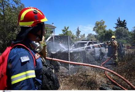 Εστίες φωτιάς στην Πάρνηθα - Επιχειρούν ισχυρές πυροσβεστικές δυνάμεις