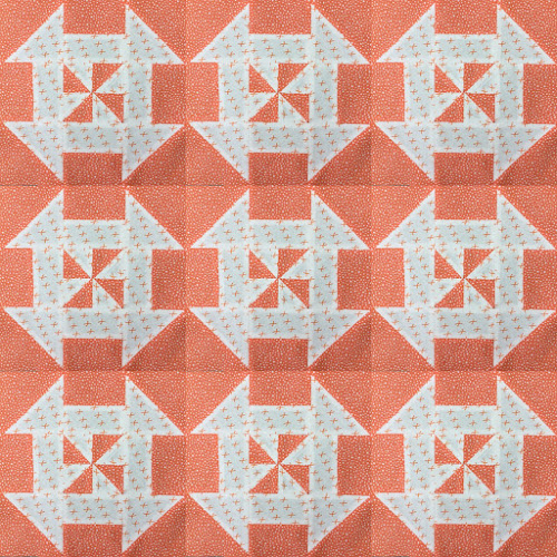 Block 11: Disappearing pinwheel quilt sampler