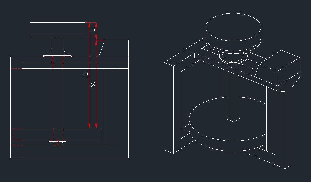 Dimensioni tornio for Costruire un tornio per legno