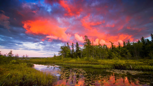 Sunset Thunderclouds Over Rocky Lake, Lakeview, Nova Scotia.jpg