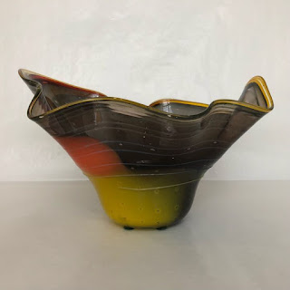 Fernando Loftus Signed Art Glass Bowl