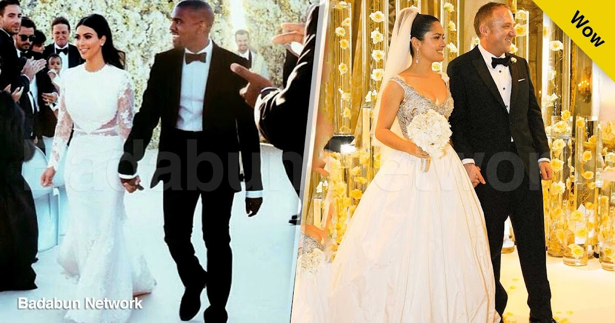 kim kardashian kanye west bodas caras bodas de lujo bodas realeza salma hayek