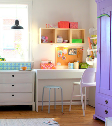 Barewunderbar%252520Office%252520Space Bright Pastel Craft Room | Home Office Space from Barewunderbar