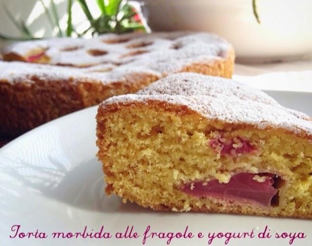 Azzuchef Torta Morbida Alle Fragole E Yogurt Di Soya