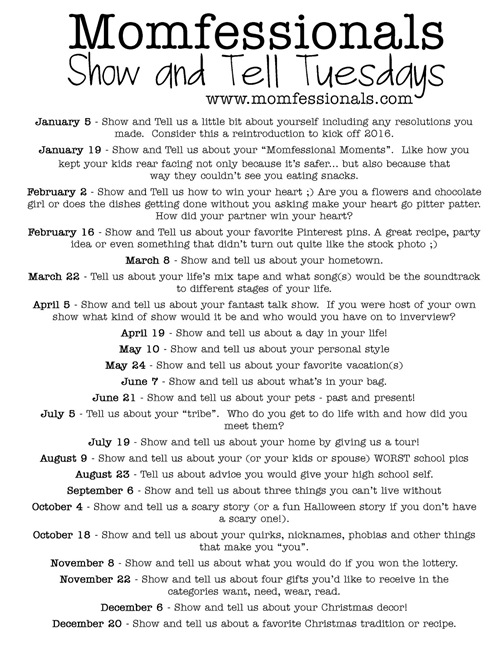 Show and Tell Tuesday 2016
