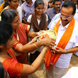 Sri D. V. Sadananda Gowda visited college campus on 31-05-2014