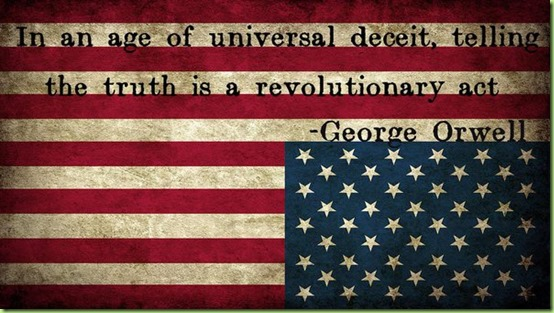 flag lies truth deceit