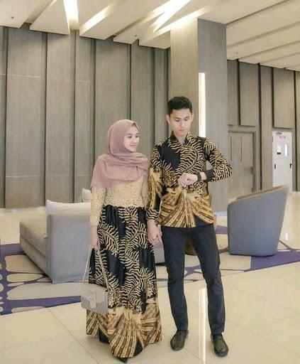 Rekomendasi Model Gamis Batik Kombinasi Satin Terbaru Dan