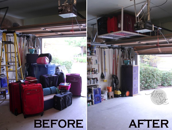 Organizing Garage With Overhead Storage