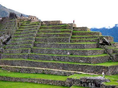 Terraces in Machu Picchu Peru