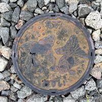札幌市下水道汚水桝デザインハンドホール蓋(金魚)