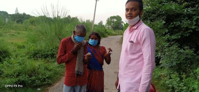 आमीन पठान ने अल्का लाम्बा के जन्मदिन पर ग्रामीण क्षेत्रो में बाटे मास्क