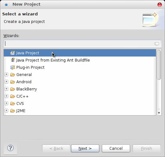 Pilih Java Project